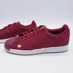 Adidas Originals Superstar Burgundy Red Wh…